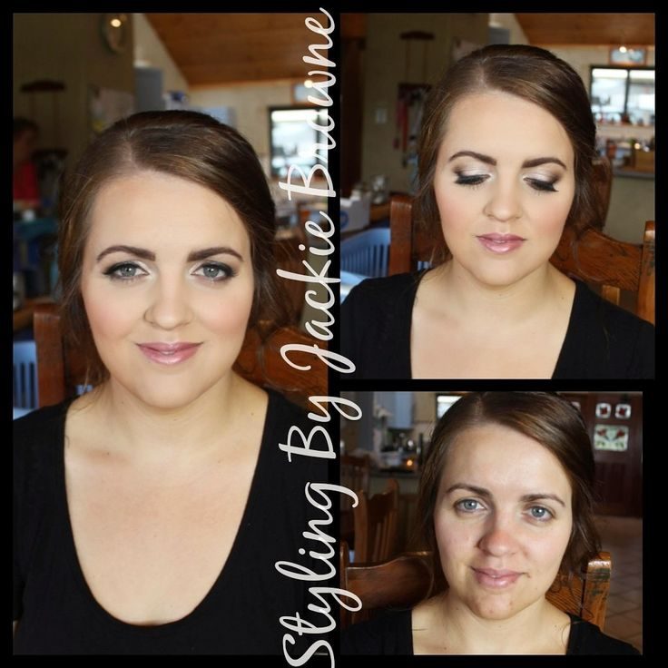 Makeup before and after of my bride today