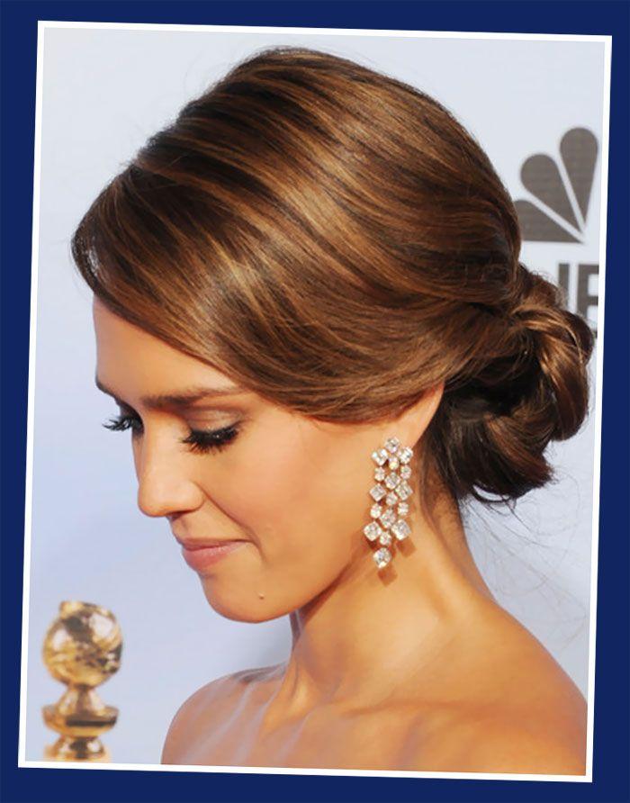 Jessica-Alba-Loose-Bun-Updos-For-Long-Hairstyles.jpg (700×892)   hair   Pinterest   Updo, My ...