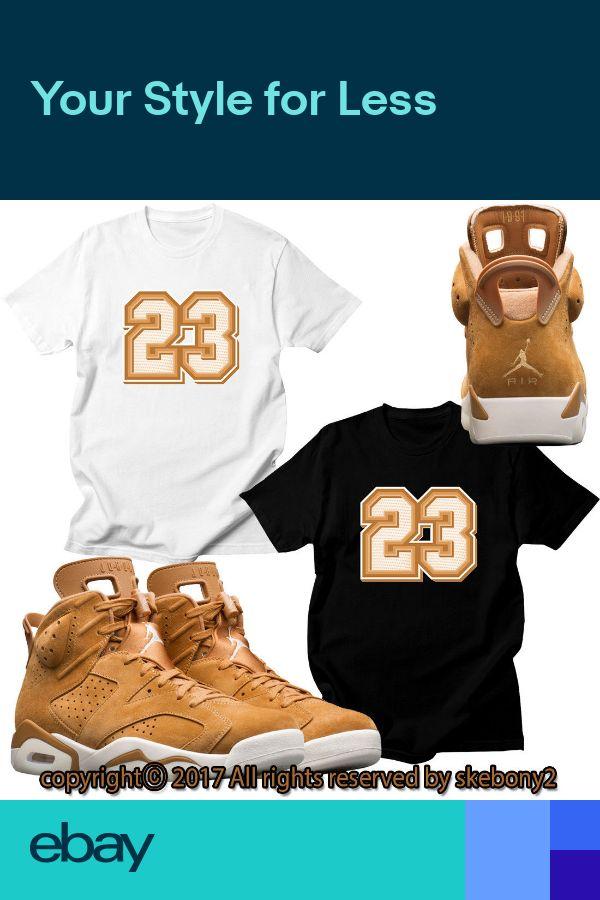 a8ba0fe07d6e34 NEW CUSTOM T SHIRT NIKE Air Jordan 6 WHEAT SHOES matching TEE JD 6-3-22 in  2019