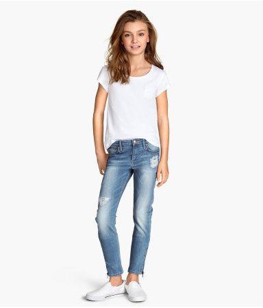 skinny fit jeans fra h&m 199,- størrelse 146