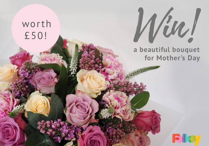 Win a bunch of flowers for your mum, we have 5 bouquets worth £50 to giveaway!