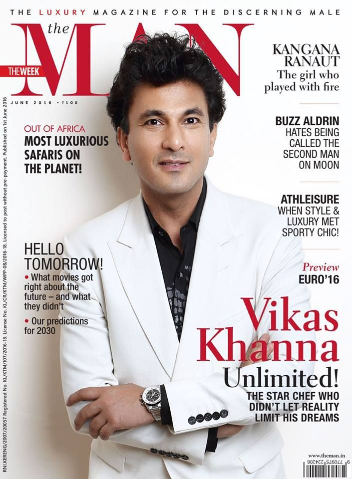 The Michelin starred chef Vikas Khanna knows all about good food and good clothing. He is absolutely owning the cover of The Man magazine, India in Rohit Gandhi + Rahul Khanna. Styled by - Aamir Aashique