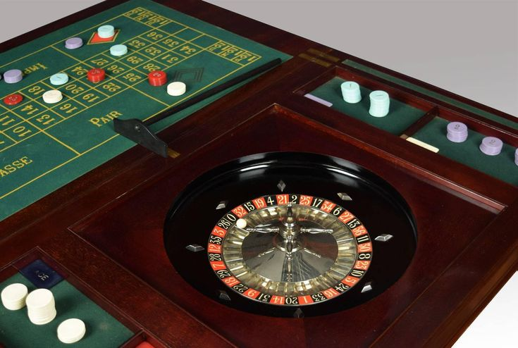 Edwardian Mahogany Games Roulette Table | From a unique collection of antique and modern game tables at https://www.1stdibs.com/furniture/tables/game-tables/