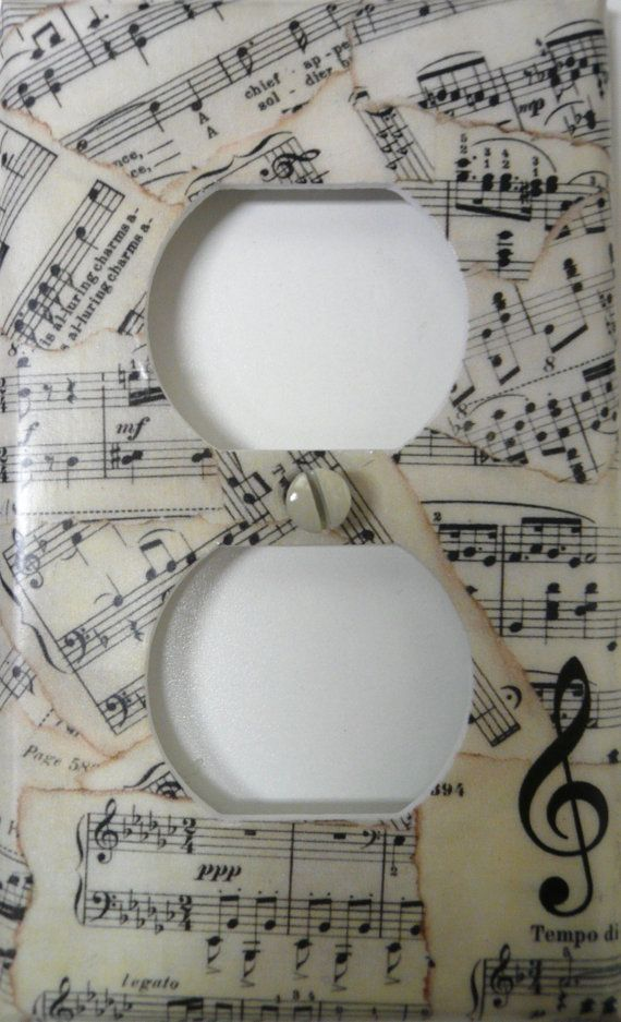 Hey, I found this really awesome Etsy listing at https://www.etsy.com/listing/152291052/outlet-cover-vintage-sheet-music