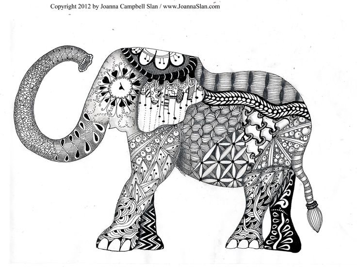 elephant Big girl coloring pages