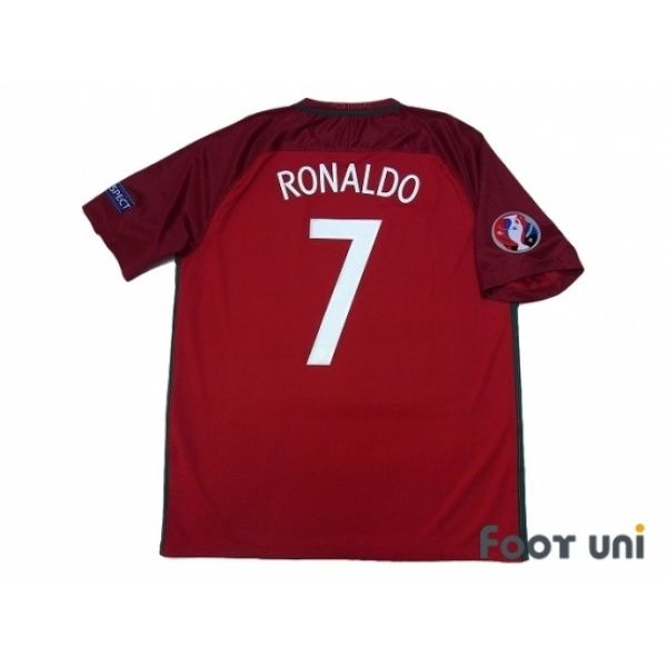 finest selection 269ce 1c04c Portugal Euro 2016 Home Shirt #7 Ronaldo UEFA Euro 2016 ...