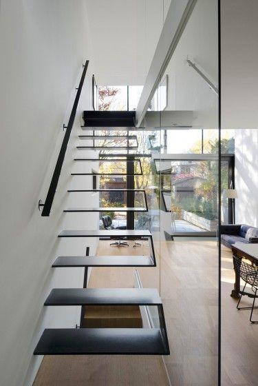 17 mejores ideas sobre escalera moderna en pinterest - Escaleras para casas modernas ...