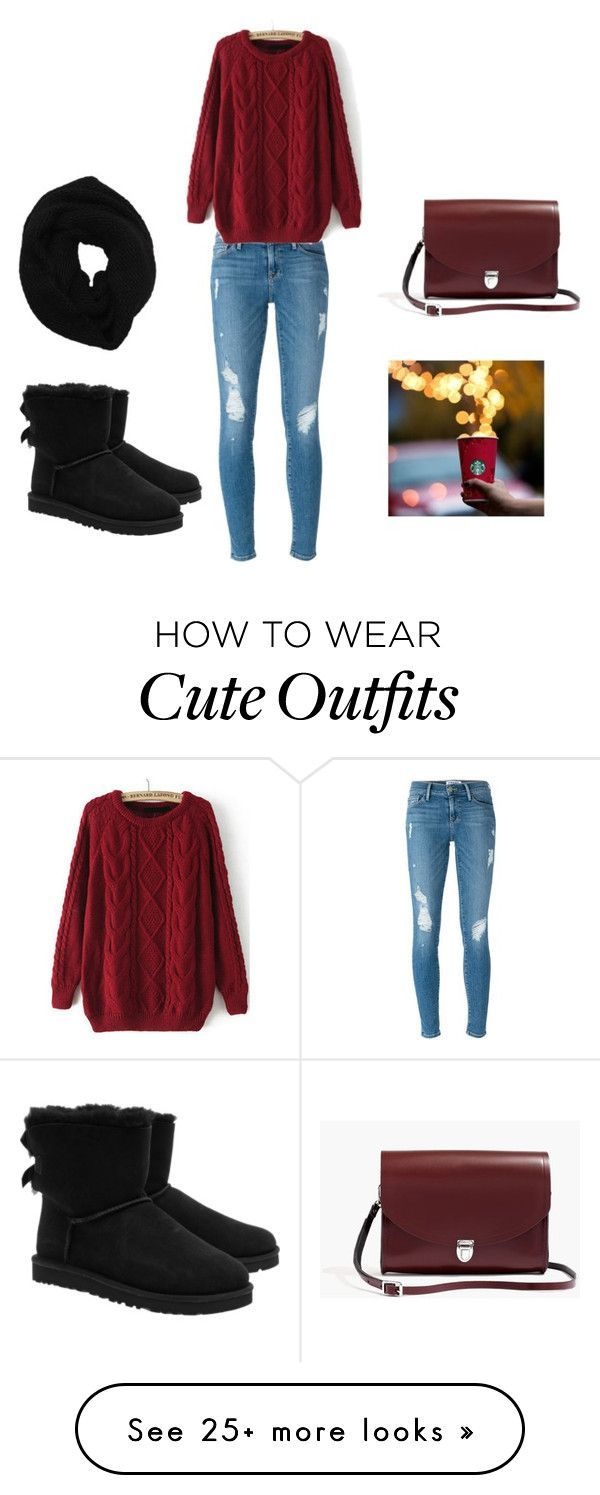 """Cute outfit for the winter"" by kassy13v on Polyvore featuring Mode, Frame Denim, UGG Australia, Wyatt und Madewell"