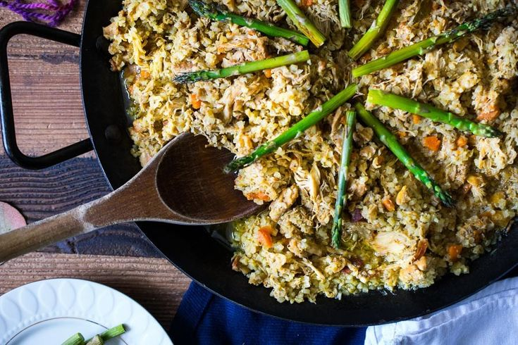 """A Cuban staple is remade into a simple pressure cooker recipe. This anti-inflammatory Instant Pot Arroz Con Pollo (chicken with rice) is a low-carb recipe suitable for AIP, Whole30, and Keto lifestyles! You won't miss the """"real"""" rice!"""