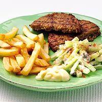 Recept - Komkommersalade met vegetarische burger - Allerhande