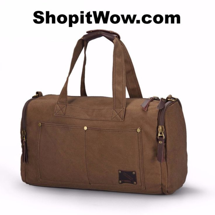 Travel Bag With Large Capacity, Luxury Hand Luggage Travel Duffle Bag Style, heavy duty Canvas Made