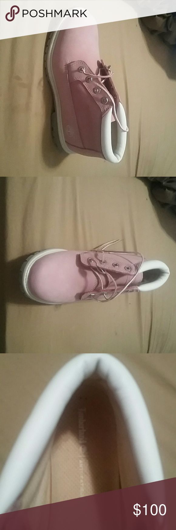 BRAND NEW PINK WATERPROOF TIMBERLAND BOOTS Brand new pink timberland boots never been worn TIMBERLAND Shoes Lace Up Boots