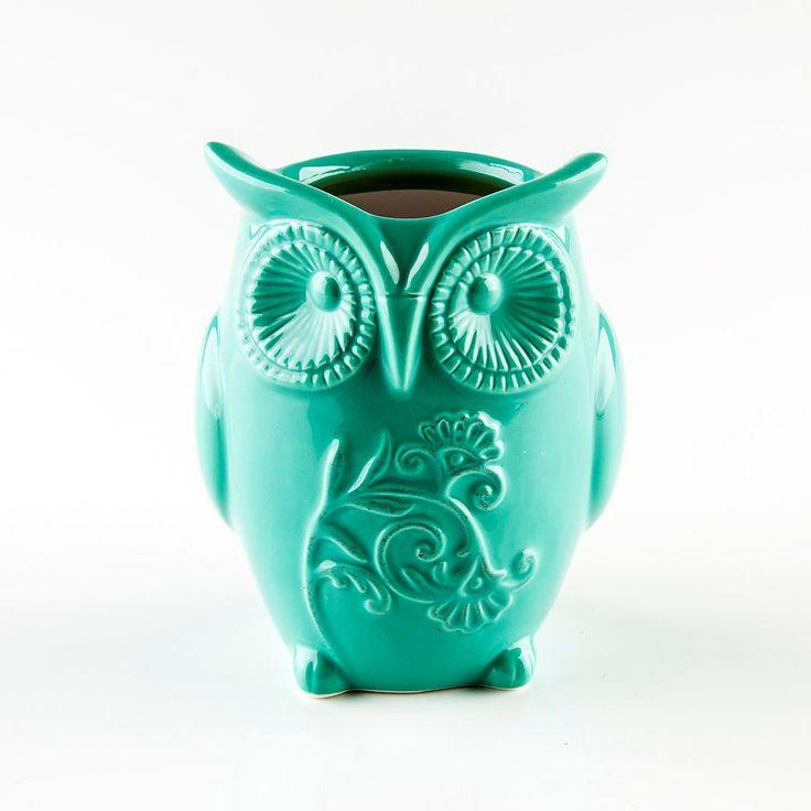 Owl Oil Burner - Turquoise