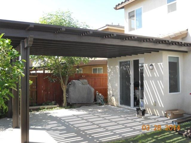 This beautiful lattice patio cover was installed in Bakersfield just in time for the sun!