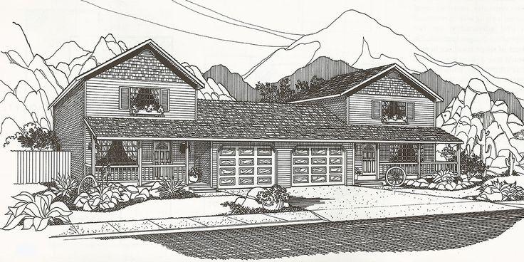 10 best ideas about duplex house plans on pinterest for Stacked duplex house plans