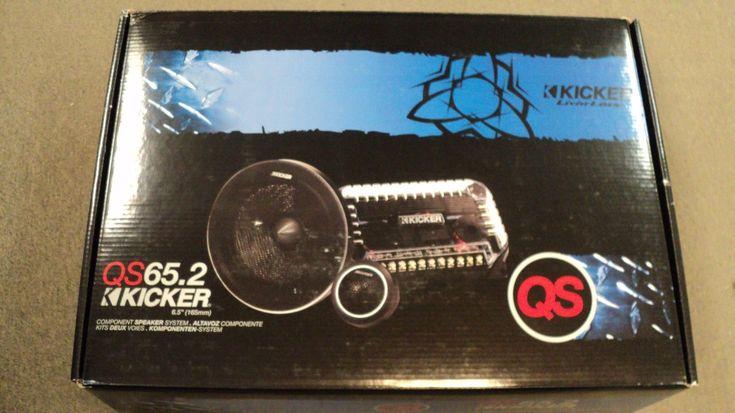 NEW KICKER QS65.2 6.5 2-Way QS-Series Car Audio Component System