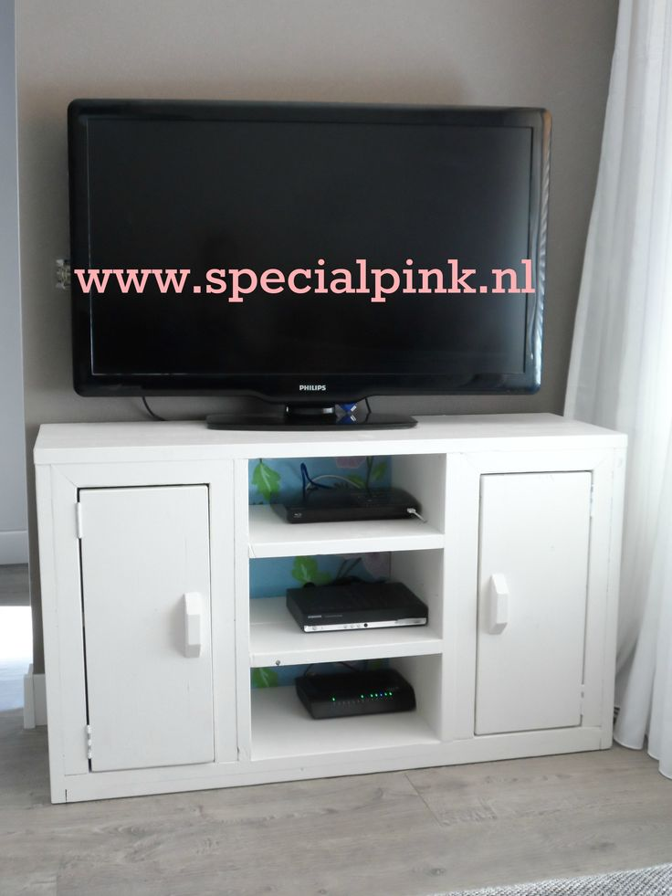 #tvmeubel Kate #wit #hout #specialpink #white