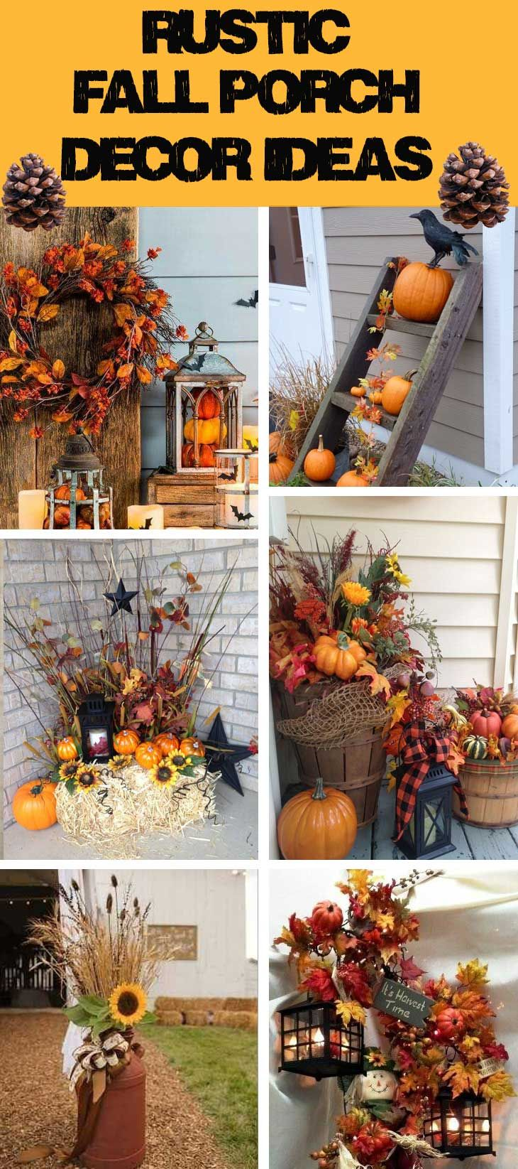 Fall Into The Most Beautiful Season Of The Year With These Fall Decor Ideas Let Your Home Ref Fall Decorations Porch Fall Thanksgiving Decor Rustic Fall Porch