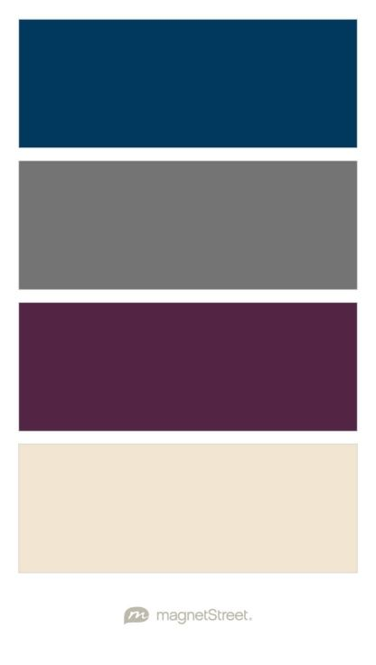 Navy Charcoal Custom Purple And Champagne Wedding Color Palette Created At Magnetstreet Family Pics In 2018 Pinterest