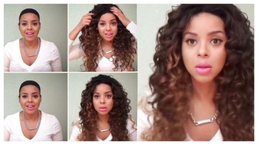 The GLS25 wig from Friday Night Hair (FNH). This is my second Friday Night Hair review. This unit is very {very!} full and long. It's also curly-licious ♥