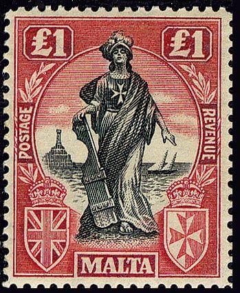 #Malta Stamp 1922 - One_Pound More about #stamps: http://sammler.com/stamps/ Mehr über #Briefmarken: http://sammler.com/bm