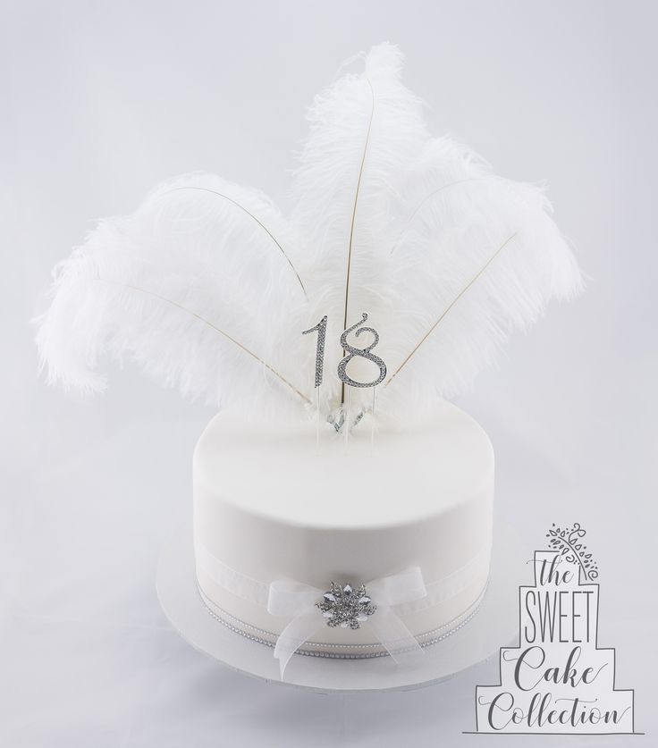 Feathers and Bling Cake