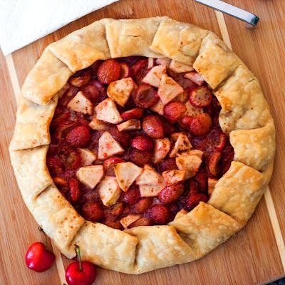 Gluten-Free Dairy-Free Cherry Apple Galette