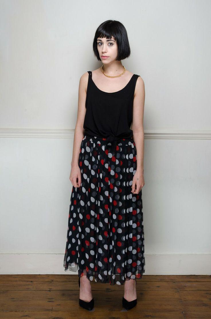 Vintage pleated polka dot skirt - Skirts - Womens Vintage   Retro & Vintage Clothes UK