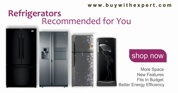 Refrigerators recommended for your kitchen type & needs. More space, new features, better energy efficiency, fits in your budget. Compare price & read reviews here