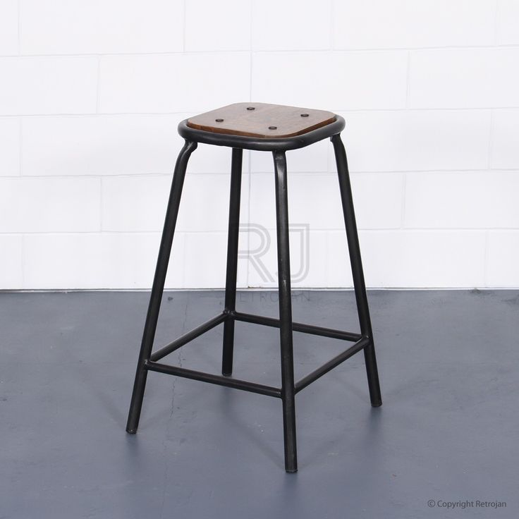 Tall Baez Industrial Style Stool - Black | $99.00