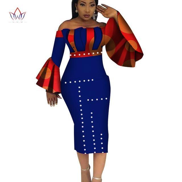 58a9286c10de9 2018 Summer Dashiki Party Hot Vestidos for Women Cotton Print ...