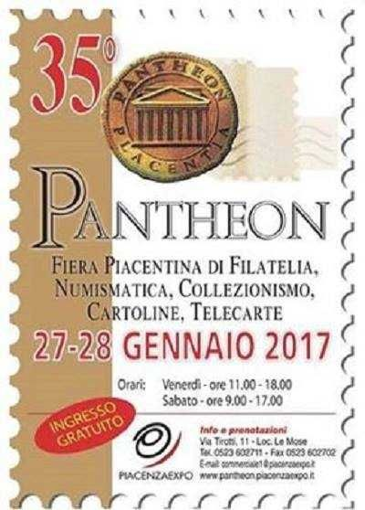 35° PANTHEON -27-28 GENNAIO 2017(Piacenza)Piacenza Expo - Quartiere Fieristico di PiacenzaFraz. Le Mose, Strada Statale 10 per Cremona, 29100 PiacenzaLo storico appuntamento piacentino de
