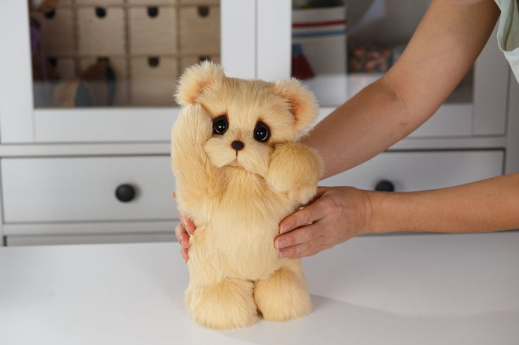 Artist collectible Teddy bear Honey (OOAK) by TEDDYROOM on Etsy