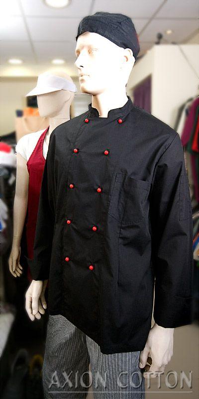 Ρούχα εστίασης όπως ρούχα σεφ και ποδιές για σερβιτόρους στο κατάστημα της Axion Cotton στην Αθήνα