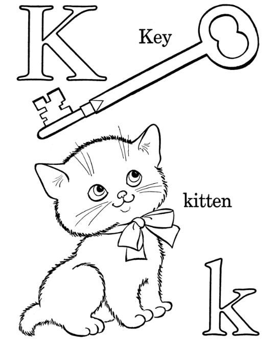 Letter K Coloring Page For Kids Coloring Board Pinterest