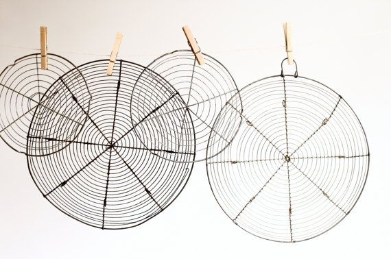 1 Small French Wire Cooling Rack  Rustic Wirework by CrolAndCo, $24.00