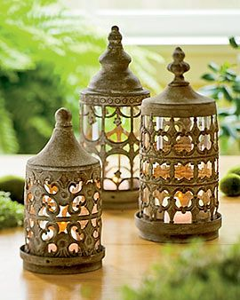 Courtyard Lanterns - so pretty!  #home #decor