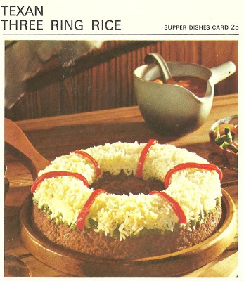 Mejores 489 imgenes de vintage food cards en pinterest comida texan three ring rice marguerite pattens recipe cards 1967 forumfinder Images