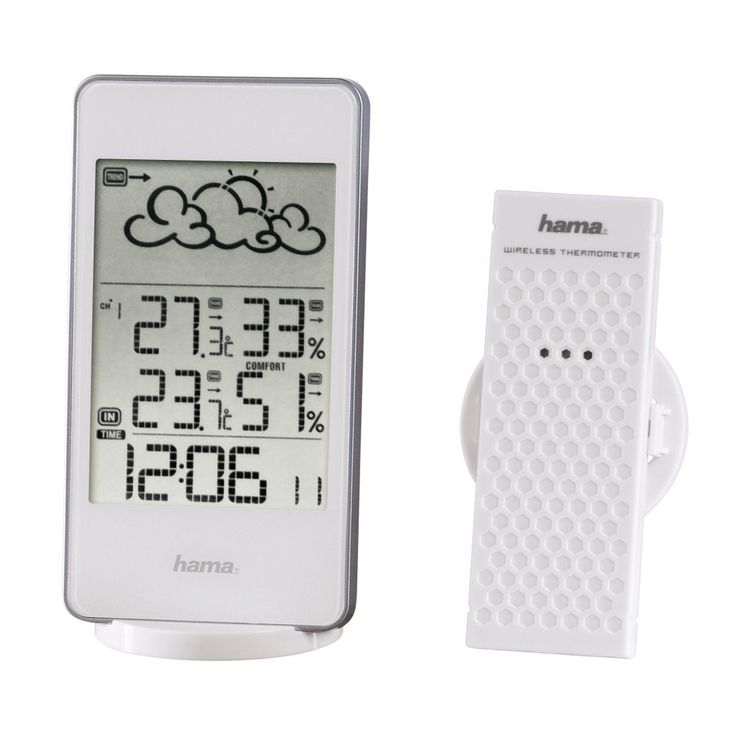 Hama Radio Weather Station EWS 860 with Digital Clock, Alarm, Hygrometer, Frost, Temperature, Weather Forecast (External Sensor, Range 30 m White ** You can get additional details at the image link. #GardenStorageandHousing