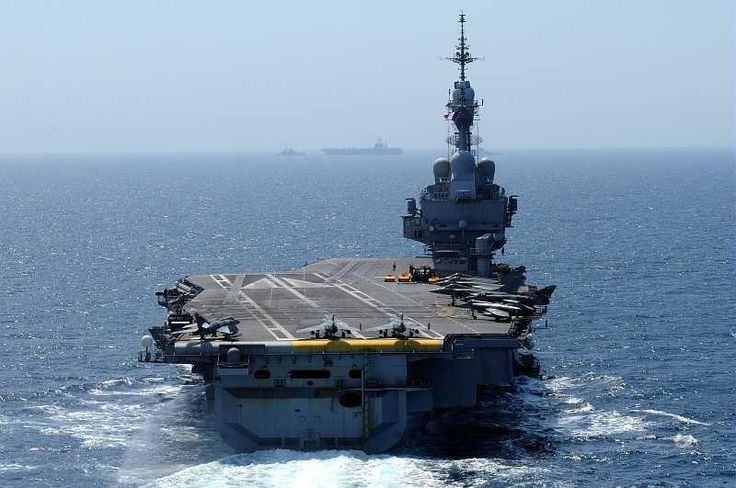 French Marine Nationale aircraft carrier (porte-avions) Charles de Gaulle.