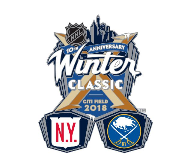 wholesale dealer 6721b ea023 2018 NHL WINTER CLASSIC DUELING PIN NEW YORK RANGERS VS ...