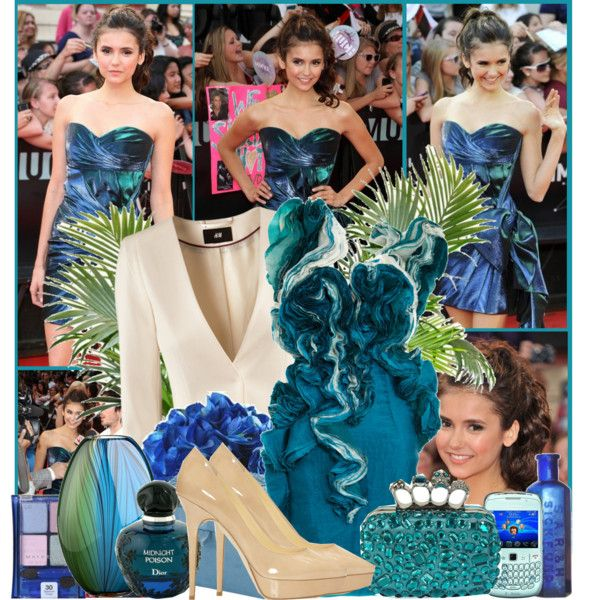 Nina Dobrev-Muchmusic video awards by elenadobrev90 on Polyvore featuring moda, Felicity Brown, H&M, Christian Dior and Crate and Barrel