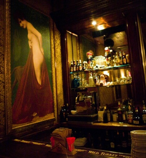 The Back Room speakeasy is located behind an old toy store facade. (part of New York's Secret Bar Scene)