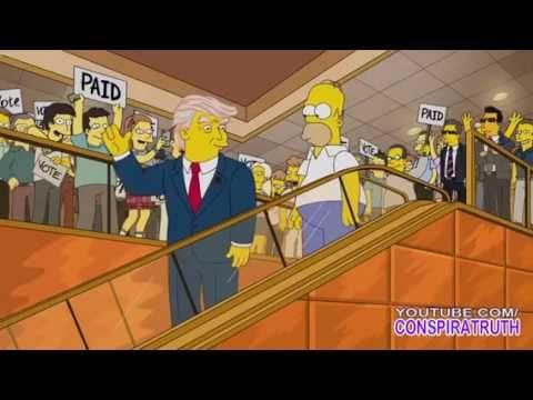 """「シンプソンズ」が""""暴君""""大統領候補トランプの出現を完全予言していた! 全米崩壊の未来も…!? - YouTube"""