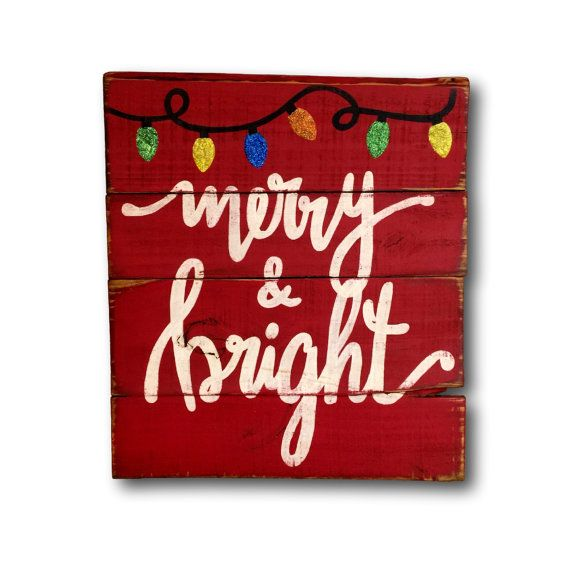 Hey, I found this really awesome Etsy listing at https://www.etsy.com/listing/246641372/merry-and-bright-sign-christmas