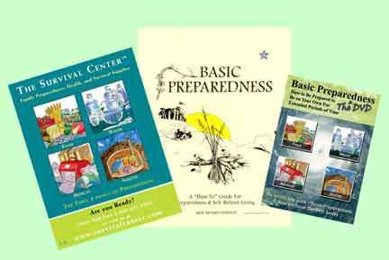 Survival Center Store - Basic Preparedness  The 3 DVD Home Study Course, $49.95 (http://store.survivalcenter.com/products/Basic-Preparedness--The-3-DVD-Home-Study-Course.html)
