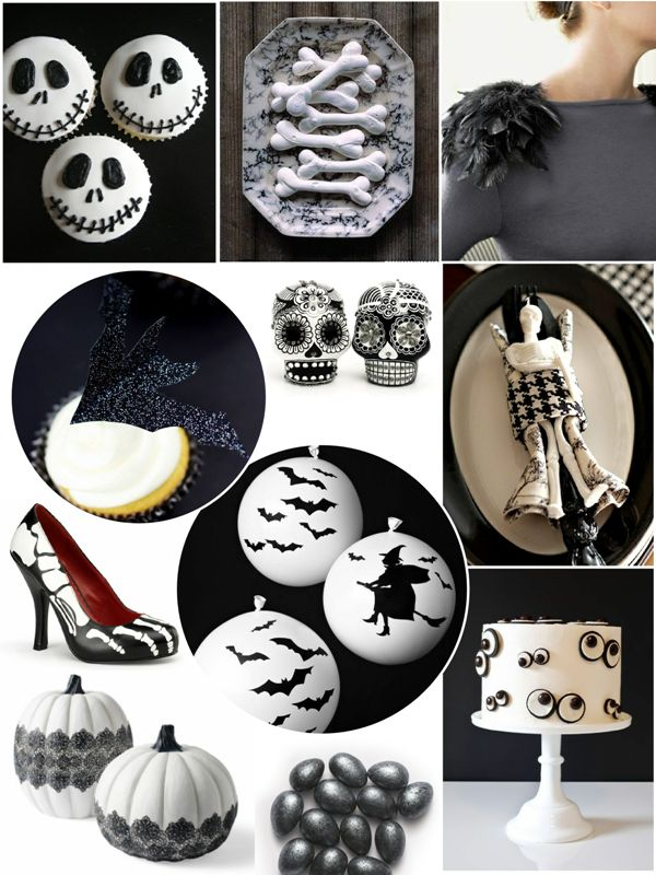 Black and white halloween party ideas by bird 39 s party - Black and white food ideas ...