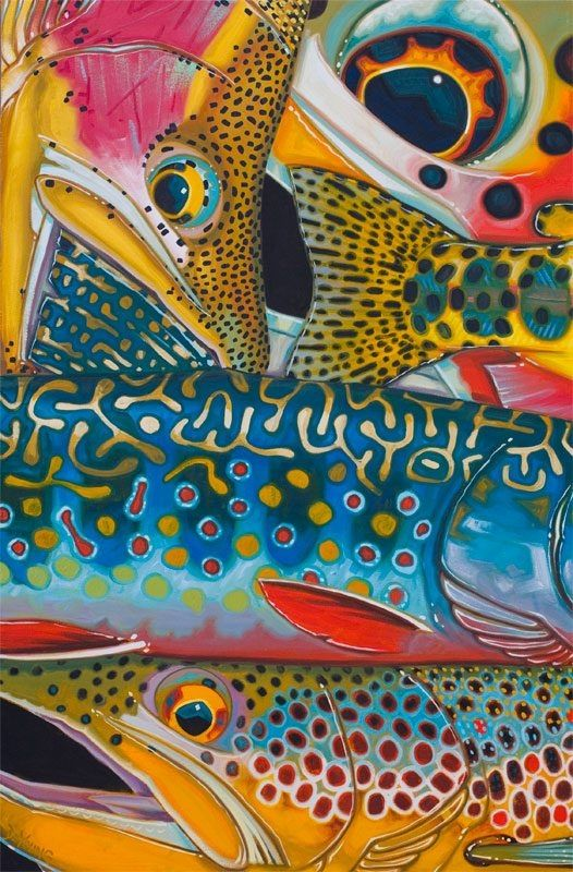 For a daily reminder of times spent #flyfishing in search of elusive trout, the DeYoung Canvas Print is a true showpiece to feature in your home or office.
