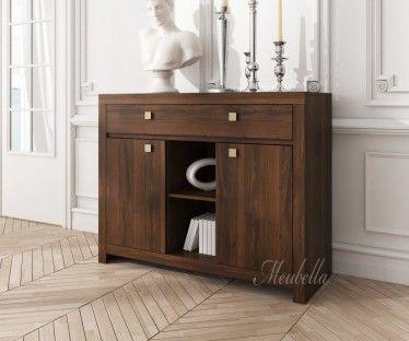 Dressoir Inverness is een praktische kast met voldoende opbergruimte. Dit model beschikt over twee deuren en een lade met handgrepen. Het meubel is uitgevoerd in donker eiken.
