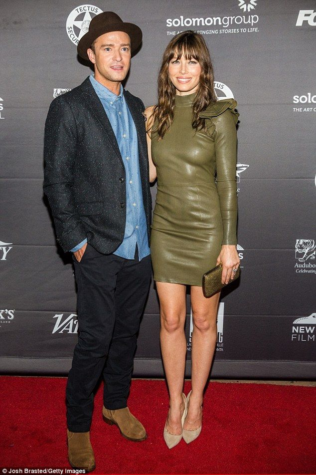 The 'look' of love: Saturday was date night for Justin Timberlake and his wife Jessica Biel at the New Orleans Film Festival premiere of their film, The Book of Love